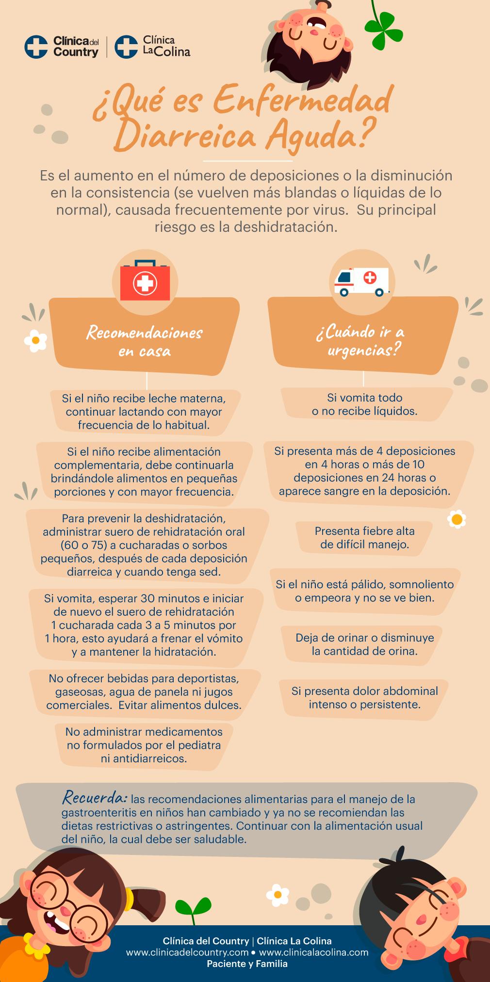 Infografia sobre la enfermedad de la diarreica aguda